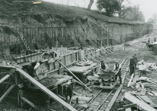 Construction of the Trent Building, 1925